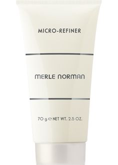 Merle Norman Micro-Refiner  Get dramatic skin resurfacing results similar to micro-dermabrasion at home! This intensive treatment provides optimum exfoliation with thermal (warming) technology that detoxifies and minimizes the appearance of pores, leaving your skin looking smoother, healthier and more radiant. Microspheres work to remove dead skin cells and a blend of emollients smoothes and softens skin. After a single use, skin exfoliation is improved by 99%, skin smoothness by 68%