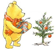 Classic Pooh... Wish I could find this in a Christmas card!