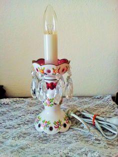 lampa v provedení svícnu přejímané sklo