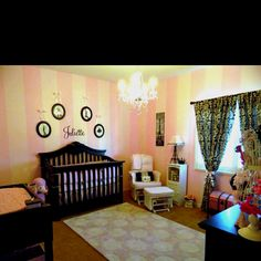 If I ever have a baby girl it's pink poodle paris all the way! Pink nursery