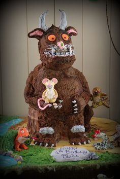 Cake at a Gruffalo Party #gruffalo #partycake