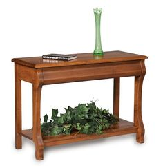 Amish Pierre Open Sofa Table with Drawer