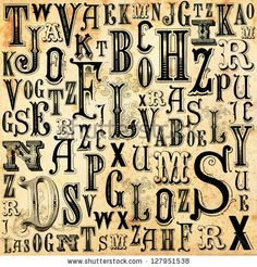 I like victorian style letters