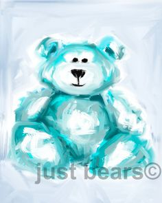 Bear / Teddy bear painting 8 x 10 art print by JustBears on Etsy, $25.00
