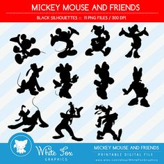 50% OFF SALE Mickey Mouse Minnie Mouse by WhiteFoxGraphics on Etsy