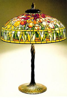 FRUIT TABLE LAMP TIFFANY 1900-1910 POSTCARD    Fruit Table Lamp Loaded Favrile glass Tiffany Studios, New York.