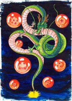 Dragon Ball Shenron God Dragon Summon Creature Manga iPhone 4 5 6 7 8 Plus X Case Dragon Ball Z, Dragon Z, Manga Anime, Anime Art, Shen Long Tattoo, Sheng Long, Z Tattoo, Japon Illustration, Anime Style