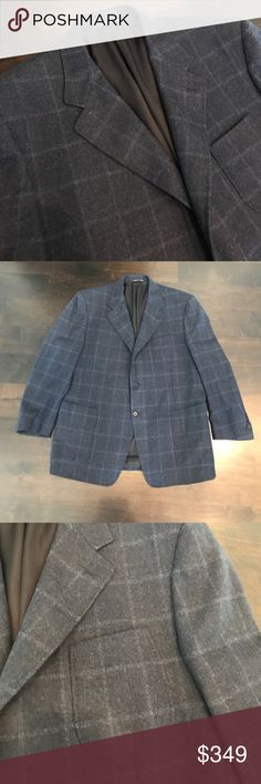 Canali Blazer Worn once. Beautiful stitching. Cashmere mix. Made in Italy. Size 56 in euro measurements Canali Suits & Blazers Sport Coats & Blazers