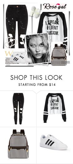 """""""Rosegal"""" by dzenanlevic99 ❤ liked on Polyvore featuring River Island, Henri Bendel and adidas"""