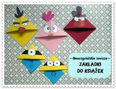 Zakładki do książek DIY minionki, angry birds Bookmarks