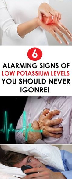 IF YOU HAVE LOW POTASSIUM YOU WILL HAVE THE FOLLOWING SYMPTOMS