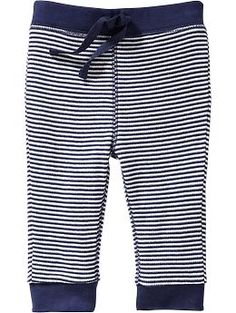 Waffle-Knit Leggings for Baby- blue and grey