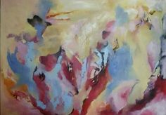Rozčilená. Olej na plátně 50 x70 cm.