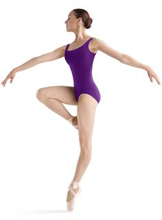 bc5fa93b68 Tween and Adult Performance Basics Ballet Dance Leotard by Bloch in  Aubergine
