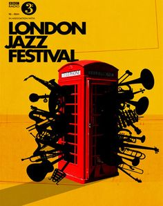 London Jazz Festival with trumpets. #music #musicart #posterart http://www.pinterest.com/TheHitman14/music-poster-art-%2B/