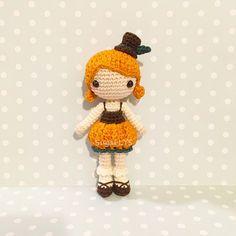 CROCHET PATTERN Halloween Pumpkin Girl Amigurumi by SugarLYS