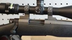Remington 700, trijicon and jewel trigger. Graphite black and Tungsten