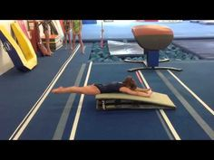 Handspring vault drill/conditioning - the pre flight/heel drive Gymnastics Lessons, All About Gymnastics, Gymnastics Academy, Boys Gymnastics, Preschool Gymnastics, Gymnastics Tricks, Gymnastics Coaching, Gymnastics Training, Gymnastics Workout
