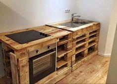 Outdoor Küche aus Paletten selber bauen | Home Design | Pinterest ...