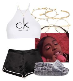 """""""•tomboy• princess nokia•"""" by trinsowavy ❤ liked on Polyvore featuring Ileana Makri, Calvin Klein and Steve Madden"""