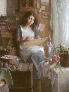 I absolutely love this painting, The Artist, by Morgan Weistling. I have only included a couple of Morgan's paintings here, but his entire catalog is a visual feast and worth exploring.