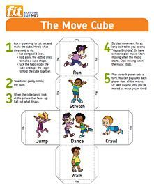 The move Cube, fun way to get those kids to move their bodies this winter!: