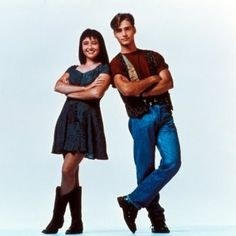 The 90'S!!!!  Brenda and Dylan Walsh!