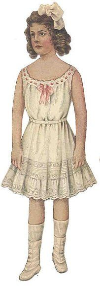 Free Dolls Clip Art - Victorian Paper Doll / Her clothes are available on the site as well