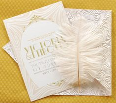 Art Deco Invitation Suite   Invitation  Reply Card by umama143, $5.00
