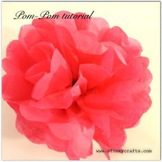 Clunky Crafts: Paper Pom-Pom Tutorial