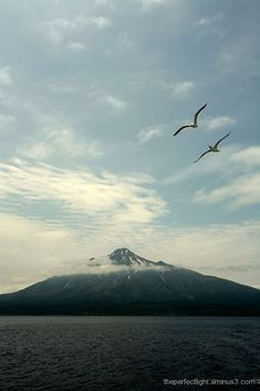 Mount Rishiri - Wakkanai Japan - This was our view from the kitchen window and front yard - BEAUTIFUL! Beautiful Homes, Beautiful Places, Japanese Culture, This Is Us, Scenery, Window, Yard, Camping, Island