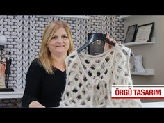 Sıra dışı bir bayan yeleği - YouTube Free Knitting, Free Crochet, Crochet Top, Crochet Stitches, Crochet Patterns, Crochet Videos, Dress Skirt, Tops, Women