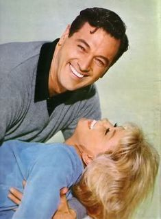 """Doris Day and Rock Hudson, 1964. Promotion for """"Send Me No Flowers""""."""