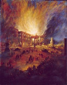 Norman Teeling | On View - Art Gallery - The 1916 Rising/The GPO Burns
