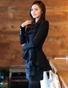 WeiMeiJia® Women's Lapel Neck All Matching Solid Color Overcoat 2406222 2016 – $16.99