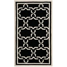 Safavieh Dhurries Black/Ivory 3 ft. x 5 ft. Area Rug-DHU545L-3 at The Home Depot