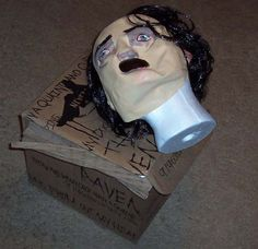 This will creep you out if you've been watching the new TV show The Following.     Promo Edgar Allan Poe Mask Box Kevin Bacon Fox Horror TV Series   eBay