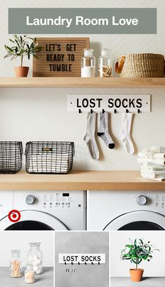 Add a little personality to your laundry room with fun and playful display signs. Room Collection - Hearth & Hand™ with MagnoliaAdd a little personality to your laundry room with fun and playful display signs. Laundry Decor, Laundry Room Remodel, Laundry Closet, Laundry Room Organization, Laundry Room Design, Laundry In Bathroom, Organized Laundry Rooms, Utility Room Storage, Laundry Organizer