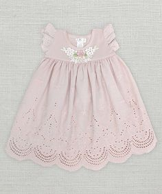 Look what I found on #zulily! Pale Mauve Eyelet Dress - Infant #zulilyfinds
