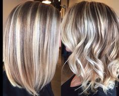 Straight and curled Lob Straight and curled… – Related posts: Super Cute Easy Hairstyles for Short Hair hair … Light Strawberry Blonde Hair Color Balayage on fleek: Over 30 trend looks on how to wear the hair color! Bob Hairstyles, Braided Hairstyles, Fringe Hairstyle, Wedding Hairstyles, Medium Hair Styles, Curly Hair Styles, Hair Medium, Medium Blonde, Medium Brown