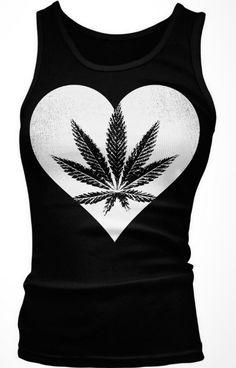 Marijana Heart Junior's Tank Top, I Love Weed, Pot Leaf Heart Design --- http://www.amazon.com/gp/product/B00CD8OKCQ/ref=as_li_ss_tl?ie=UTF8&camp=1789&creative=390957&creativeASIN=B00CD8OKCQ&linkCode=as2&tag=420life-20