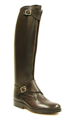E. Vogel custom polo boots look great with jeans for town or with breeches for the country.
