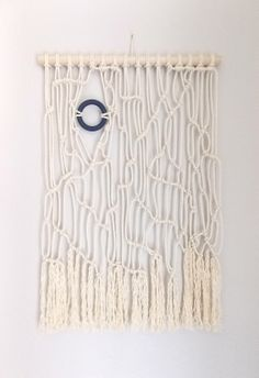 "HIMO ART for Urban Outfitters, Modern Macrame Wall Hanging, Rope art, ""Random Thoughts no.3"""