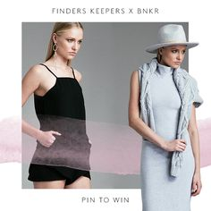 PIN TO WIN with FINDERS KEEPERS THE LABEL + BNKR. Create your own 'BNKR WEEKDAY WARDROBE' board for your chance to win your ultimate staple wardrobe thanks to BNKR + Finders Keepers The Label. 1. Follow /fashionbunker + /finderskeepersthelabel on Pinterest 2. Create your 'BNKR WEEKDAY WARDROBE' board 3. Repin our competition tile to your board Simple as that! COMP ENDS 30/9/15.