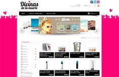 Desarrollo de tienda online para Divinas de la Muerte, empresa de venta de productos cosméticos y de maquillaje a través de Internet, con las mejores marcas del mercado - Calle Mayor Comunicación y Publicidad