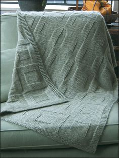 Reversible Afghan to Knit Knitting Pattern