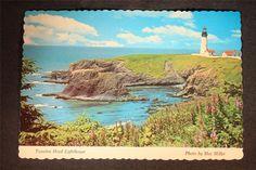 Vintage Postcard Yaquina Head Lighthouse Newport Oregon Copyright 1969 D.P.I.