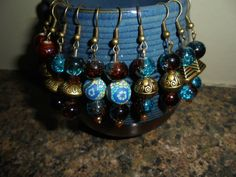 Beautiful turquoise and bronze Bohemian ethnic  by Uniquenessgemz