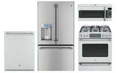 GE Cafe Stainless Steel French Door Counter-Depth Refrigerator Appliance Package with Gas Range Review Buy Now