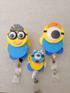 ID badge holders medicine vial caps  Minion Family